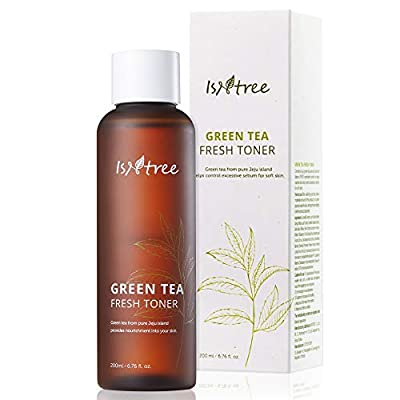 ISNTREE Green Tea Fresh Hydrating Face Toner 6.17 Fl Oz with Hyaluronic Acid for Sensitive, Oily, Dry, Acne-Prone, Skin   Deep Moisturizing Facial Moisturizer Hypoallergenic