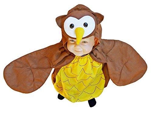 Ikumaal Eulen-Kostüm, F68 Gr. 98-104, für Kinder, Eule-Kostüme Eulen-Kostüme Fasching Karneval, Kleinkinder-Karnevalskostüme, Kinder-Faschingskostüme,Geburtstags-Geschenk Weihnachts-Geschenk