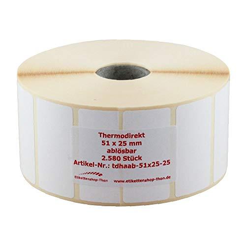 58 x 93 mm Thermo Etiketten auf Rolle 500 Stück für BIZERBA Hülse 40 mm