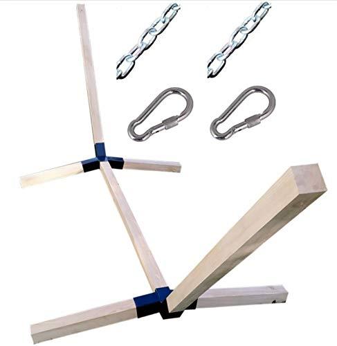 Megaastore Support pour hamac en bois de hêtre Capacité de charge max. 150 kg Largeur 320 cm
