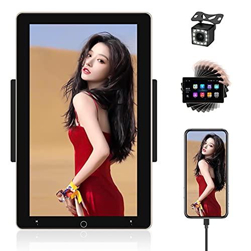 Autoradio Android 10 Pollici Autoradio Bluetooth GPS autoradio 2 Din Verticale Con FM Radio WIFI Doppia USB Specchio Collegamento+Reverse Telecamera