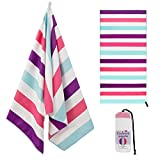 Exclusivo Mezcla Microfiber Sand Free Beach Towel, Oversized...