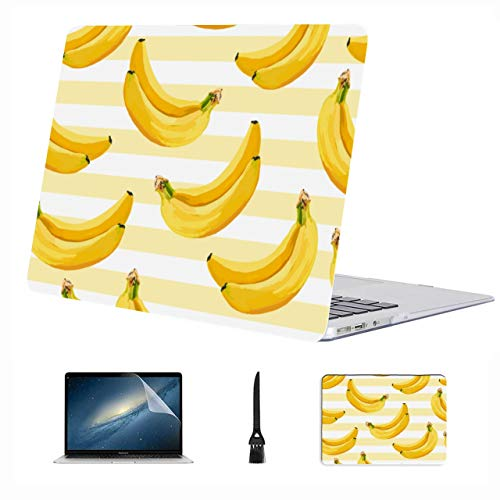 Macbook 13 Case Banana Fresh Yellow Tropical Fruit Plastic Hard Shell Compatible Mac Air 13' Pro 13'/16' Macbook Pro Screen Protector Protective Cover For Macbook 2016-2020 Version