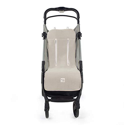 Walking Mum. Colchoneta para silla de paseo Baby Nature Sand. Forro para silla, anti-sudoración para el verano. Uso universal y compatible con la mayoría de los cochecitos. Color Beige.