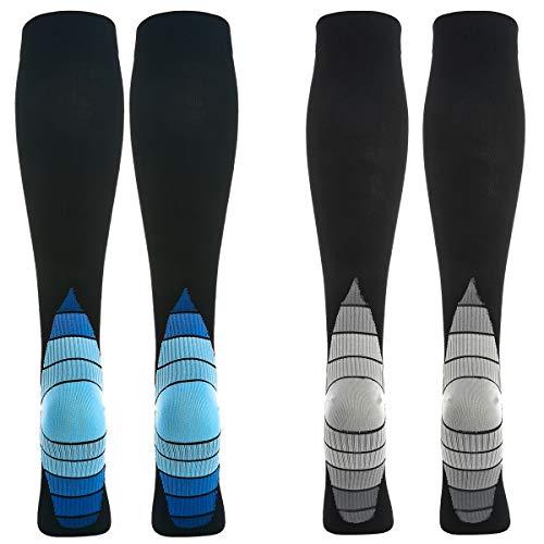2 Pares Calcetines/Medias de Compresión para Hombres y Muje
