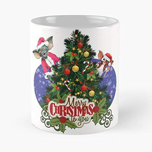 Santa Nice Claus Cool Gremlins Christmas Merry Best 11 Ounce Ceramic Coffee Mug