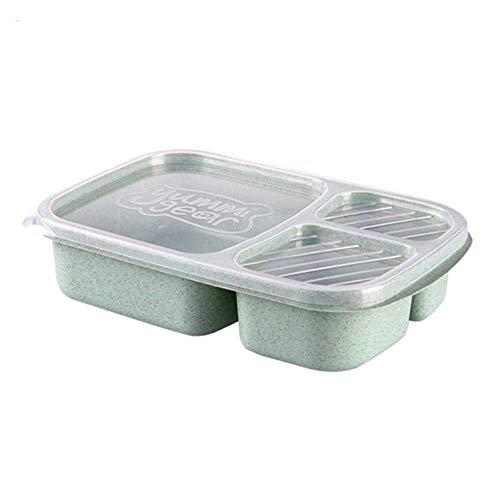 3 Caja Bento Box Trigo Paja Lonchera Contenedor de almacenamiento de alimentos Niños Niños Oficina escolar Microondas portátil Bento Box Vajilla | Loncheras | El |
