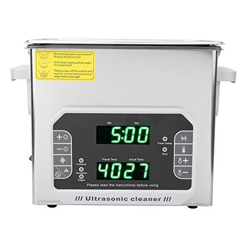 Limpiador Ultrasónico 4.5L, DK-450PF Limpiador Ultrasónico Táctil Multifunción para Joyas Anillos Relojes Anteojos Monedas(EU plug)