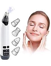 Dämpande porrengörare vakuumdammsugare Mitesser Remover – 2020 förbättrad USB-laddning elektriska porer rengöring vakuumsugare kilpor med 4 utbytbara skönhetshuvuden