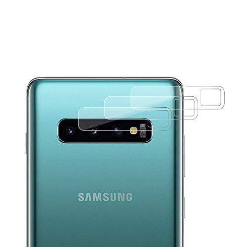 Wiestoung Kamera Panzerglas Schutzfolie für Samsung Galaxy S10/S10 Plus, [3 Stück] [9H Härte] [HD Transparenz] [Anti-Kratzer] [Anti-Staub] Kameraschutzhülle Folie für Samsung S10/S10 Plus