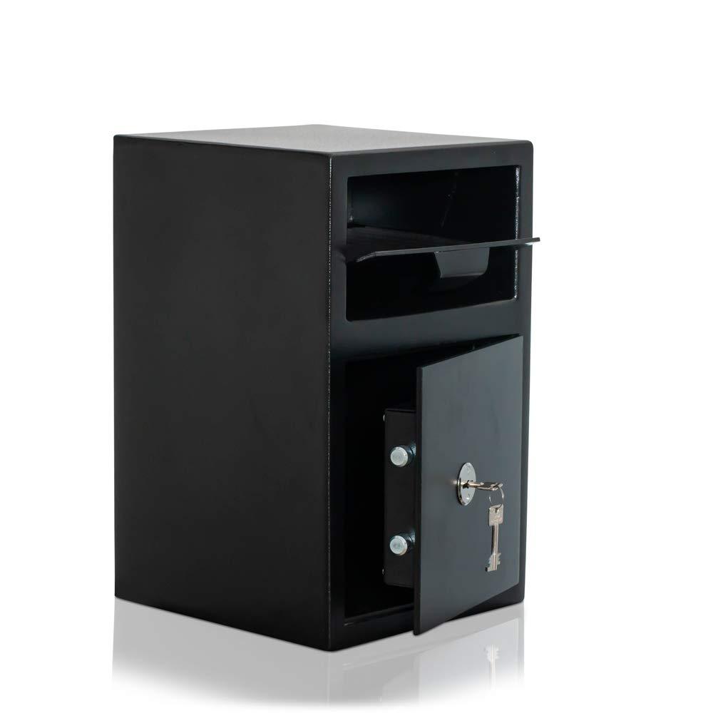 Caja fuerte tipo buzón con tapa de cierre   Nivel de seguridad B   VDMA 24992   Caja fuerte de depósito   Cerradura con llave: Amazon.es: Bricolaje y herramientas