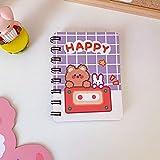 Mini Cuaderno En Espiral De Oso Para Estudiantes, Agenda Linda, Papelería Escolar Coreana, Bloc De Notas De Papel, Púrpura