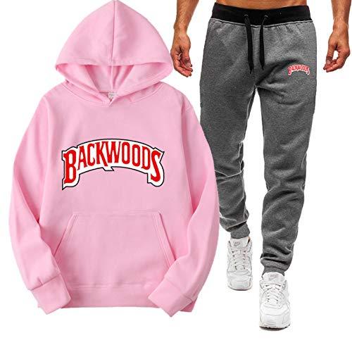 N\P Backwoods Hoods Moda Casual Letra Costura Calle Hombres y Mujeres suéter Deportivo Traje con Capucha XXL