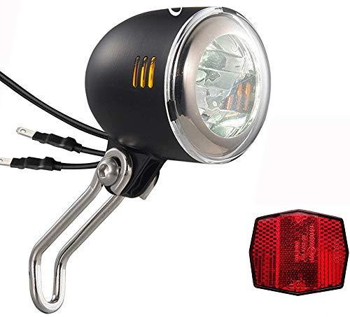 Oture Fahrrad LED-Scheinwerfer, Fahrradlampe mit StVZO-Zulassung, 40 Lux Fahrradlampe Fahrrad Scheinwerfer, 6V~48V Fahrradlicht Vorne Dynamo IPX5 Wasserdicht