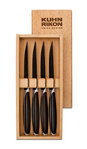 Kuhn Rikon 24020 Steakmesser-24020 Steakmesser, 18/8 Edelstahl, schwarz