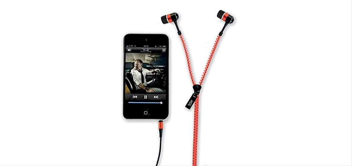 影のある世界的にベーカリー( ハイ-ファン ) hi-Fun hi-Zip EARPHONES ITARIAN DESIGN 高音質 ジップアップ インナータイプ イヤホン ( イタリアデザイン ) (オレンジ)