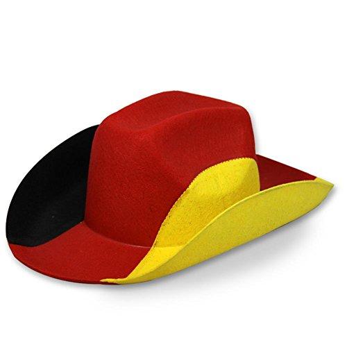 Chapeau de cowboy avec drapeau allemand