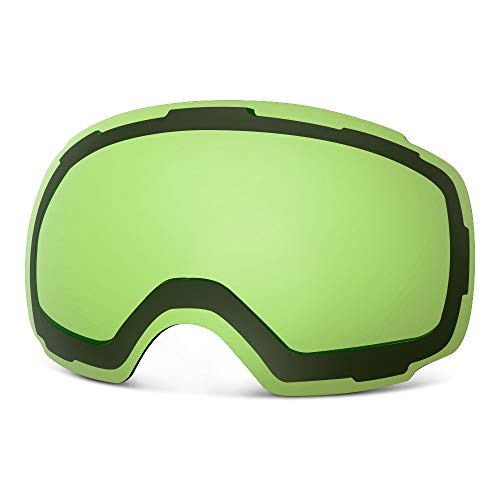 OutdoorMaster Ski Goggles PRO Replacement Lens - 20 (VLT 80% L.Green Lens with Free Carrying Pouch)