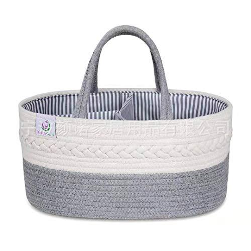 Huir Neue Baby Windeln Lagerung Box 100% Baumwolle Seil Kindergarten Sicher Tragbare Tasche Geeignet für Baby Windeln Multifunktionale Lagerung Box für Spielzeug Lagerung