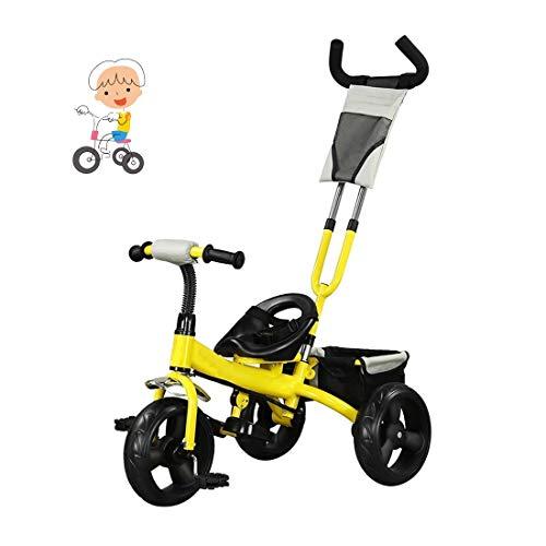 Un triciclo de dos años de edad, los niños de la bicicleta de tres ruedas empuje bebé de 1-3-6 años de edad, de un triciclo for niños triciclo mano de los niños en triciclo empuje chicos ligeros y niñ