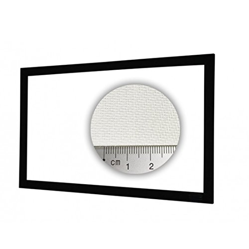 HiViLux Rahmen Leinwand akustisch transparent Weiss Tuch: HiViWhite Cinema 4K SD Akustik Gain=1,1 (16:9 Bild:265x149cm 120