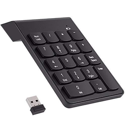 Shot Case Pava Digital inalámbrico para Ordenador Medion PC, Teclado USB, 18 Teclas, batería (Negro)