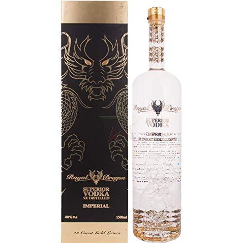 Royal Dragon Superior Vodka Imperial - mit 23 Karat Blattgold 40,00% 1,50 Liter