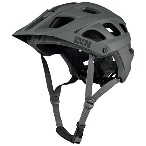 IXS RS Evo Helm MTB Trail/All Mountain Erwachsene, Unisex, Graphit, SM (54-58 cm)