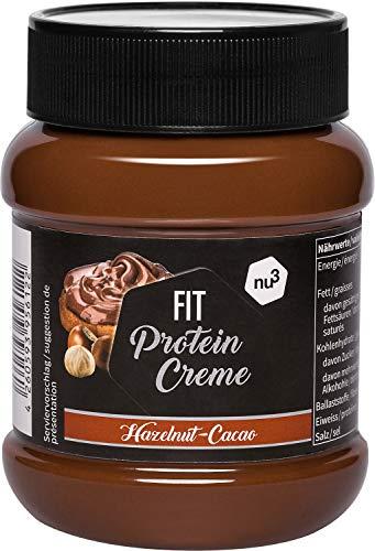 nu3 Fit Protein Creme - 400g Schokoladenaufstrich mit Haselnüssen, Kakao & Whey - ganze 21% Eiweiß - ohne Zusatz von Zucker - alternative zu Schoko-Creme aus dem Supermarkt - Glutenfrei & ohne Palmöl