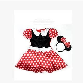 ミニー コスチューム 子供 コスプレ ハロウィン 衣装 90~130cm (110)