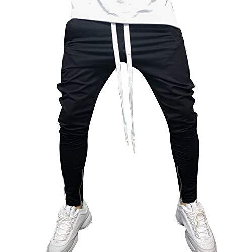 FRAUIT Männer Hose Herren Jogginghose Freizeit Sport Hose Sport Gestreifte Baggy Pockets Streifen Pants Slim Fit Freitzeithose Sweatpants Chino Cargo Hosen M-3XL 100% Baumwolle