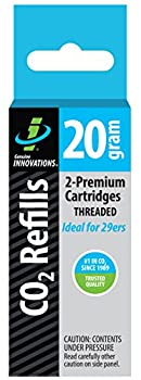 Genuine Innovations G2131 Threaded CO2 Cartridge 20 Gram  Pack of 2