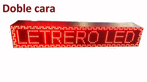BANDEROLA PUBLICITARIA CARTEL LED PROGRAMABLE LETRERO LED PROGRAMABLE PANTALLA LED PROGRAMABLE (96 * 16 doble cara, ROJO) ROTULO LED PROGRAMABLE CARTEL ELECTRÓNICO/PROGRAMMABLE LED PANEL