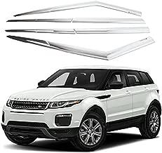 AUTOCLOVER Chrome Side Window Vent Visor 6 Piece Set for Land Rover Range Rover EVOQUE 2011 2012 2013 2014 2015 2016 2017 2018 2019 2020 2021 / Safe RAIN Out-Channel Guard Deflector