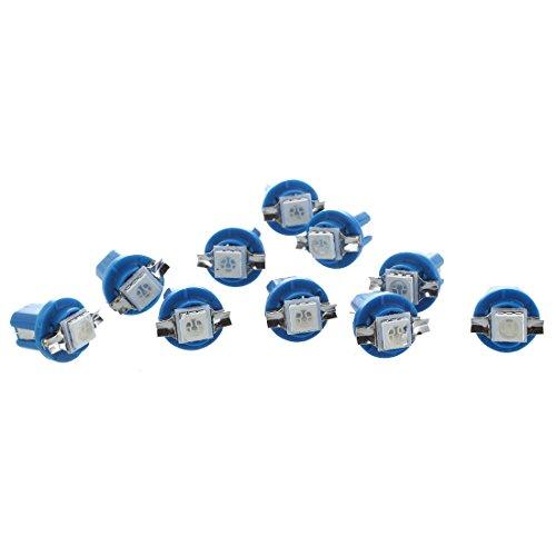 YDong 10 x SMD LED Bombilla medidor salpicadero B8-5D T5 con sostenedor de afinacion Azul