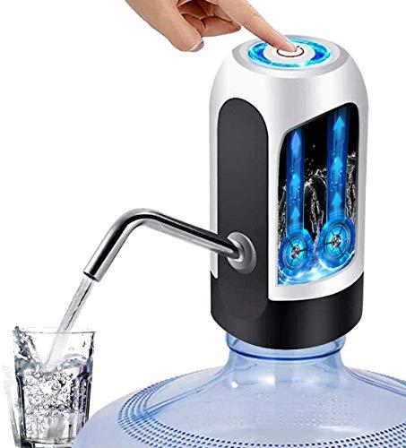 Tragbare, kabellose Universal-Trinkflaschenpumpe, für die meisten Wasserflaschen geeignet (1,65/2,2/2,48/3,3/4,16 UK Gallon),USB-Android-Ladeanschluss,Farbe (Schwarz oder Weiß)