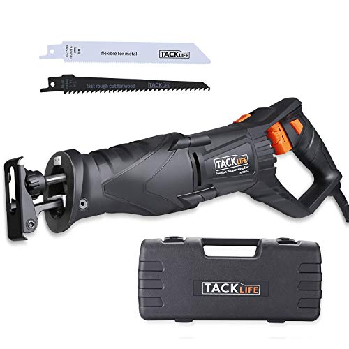 TACKLIFE Reciprocating Saw, 850W 2800SPM Sabre Saw with Rotary Handle(90° Left...