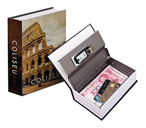 Cofre Camuflado Grande Chave Formato Livro Porta Joias Dinheiro G Modelo Coliseu