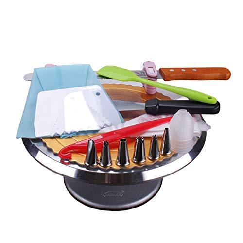Decoratieve platenspeler set van taarten van aluminiumlegering, bakaccessoires uitrusting, draaibaar taartplateau, decoreren turns, sproeierset decoreren