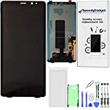 AMOLED LCD Display Touch Screen Digitizer Replacement for Samsung Galaxy Note 8 Black + Screen Protector + Tools by SpeedyGadget