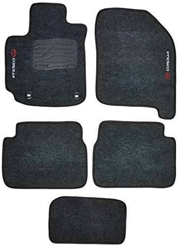 Tapetes de Carpete 05 Peças, Cinza (Grafite) - Toyota Corolla com Nova Fixação 2013