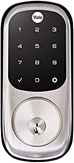 Yale Assure Lock with Zigbee - Smart Touchscreen Keypad Deadbolt - Works with Xfinity Home, Amazon Echo Show, Amazon Echo Plus and More - Satin Nickel