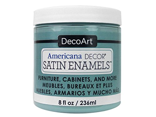 Americana Décor Décor Satin Enamels Sea Blue Pintura para Botella de esmaltes satinados, acrílico, Azul Marino, 7x7x8 cm