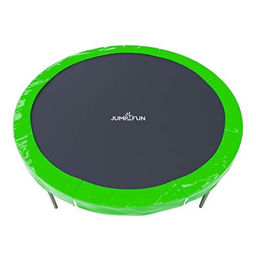 JUMP4FUN - Cojín universal de relleno de polietileno para cama elástica 6FT – 185 cm – Reversible verde y naranja