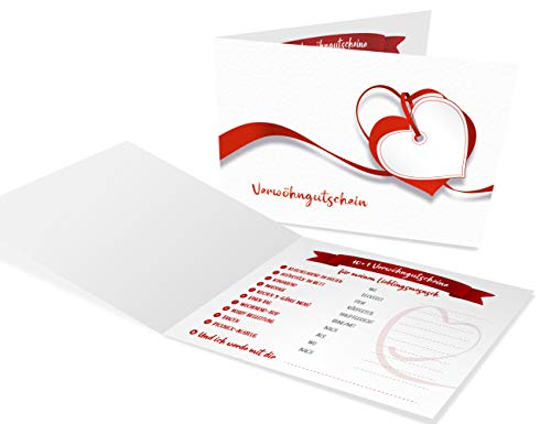 Verwöhngutschein für Paare, 10+1 Gutscheine für Zeit zu zweit, als individuelles Geschenk ausfüllen und Freundin, Freund, Mann oder Frau romantisch überraschen, für mehr Liebe, Erotik und Spaß