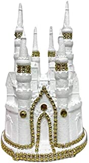 Wedding Fairy-tale White and Gold Castle Cake Topper or Centerpiece Cinderella Theme Cake Topper 9
