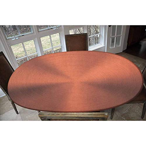 LCGGDB Elastic Polyester Fitted Table Cover,Realistic Circular Texture Image with Optical Motion Business Modern Print Decorative Oblong/Oval Elastic Fitted Tablecloth,Fits Tables up to 48' W x 72' L