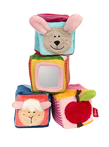 SIGIKID 42782 Würfel Set PlayQ Mädchen und Jungen Babyspielzeug empfohlen ab 3 Monaten mehrfarbig