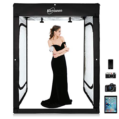 Professional Photography Studio Dimmable LED Large Shooting Tent Cube 47x39x78 inch...
