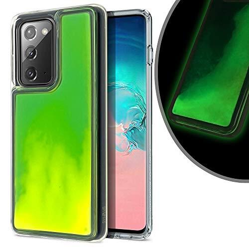 VenSen Liquid Fluorescent Case for Samsung Galaxy Note 20 Ultra Soft TPU Luxury Glow in The Darkness Noctiluncen Luminous Neon Sand case Fit Note20Ultra (Galaxy Note20 Ultra, Green)
